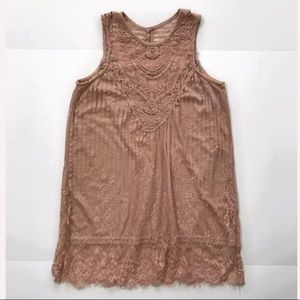 Poetry sleeveless lace long Top blouse  size M